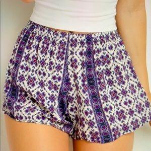 Brandy Melville Blue Boho Remi shorts, one size
